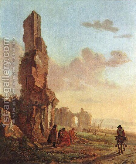 Ruins at the Sea by Jan Both - Reproduction Oil Painting
