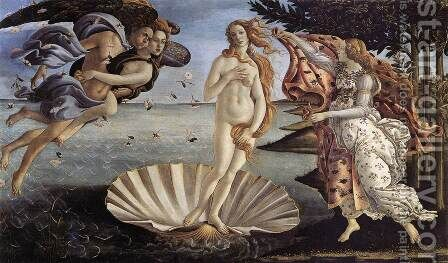 The Birth of Venus c. 1485 by Sandro Botticelli (Alessandro Filipepi) - Reproduction Oil Painting