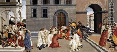 Three Miracles of St Zenobius 1500-05 2 by Sandro Botticelli (Alessandro Filipepi) - Reproduction Oil Painting