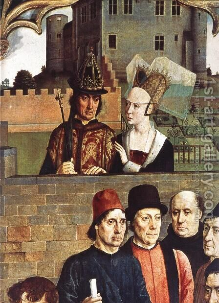 The Execution of the Innocent Count (detail 2) c. 1460 by Dieric the Elder Bouts - Reproduction Oil Painting