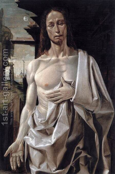 The Risen Christ c. 1490 by Bramantino (Bartolomeo Suardi) - Reproduction Oil Painting