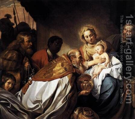 Adoration of the Magi 1674 by Jan De Bray - Reproduction Oil Painting