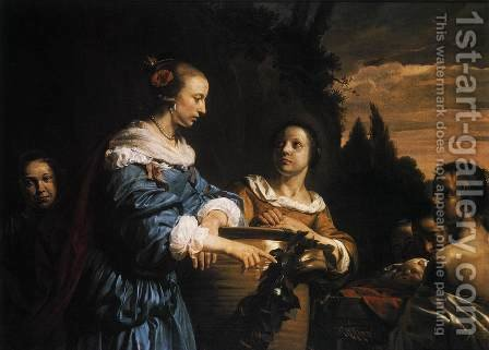 Pharaoh's Daughter with Her Attendants and Moses in the Reed Basket 1661 by Jan De Bray - Reproduction Oil Painting