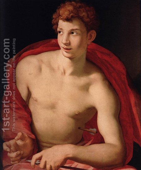 St Sebastian 1525-28 by Agnolo Bronzino - Reproduction Oil Painting