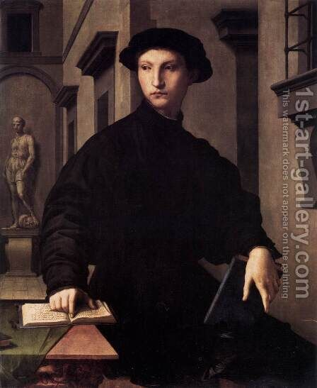 Ugolino Martelli c. 1535 by Agnolo Bronzino - Reproduction Oil Painting
