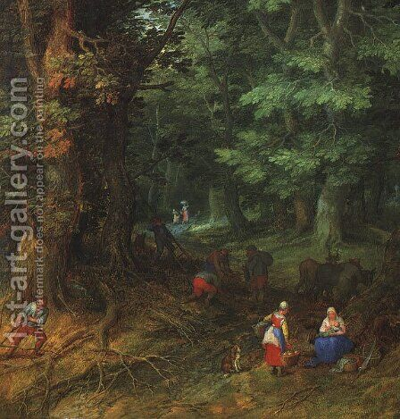 Rest on the Flight to Egypt, detail 1607 by Jan The Elder Brueghel - Reproduction Oil Painting