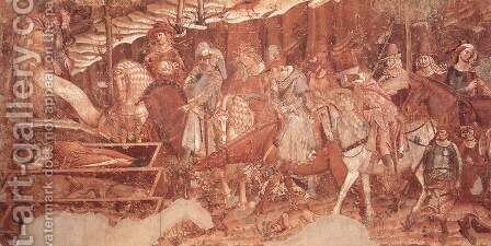 Triumph of Death (detail 3) c. 1350 by Bounamico Buffalmacco - Reproduction Oil Painting