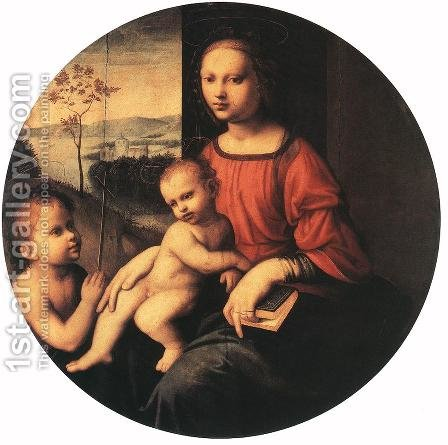 Virgin and Child with the Infant St John the Baptist by Giuliano Bugiardini - Reproduction Oil Painting