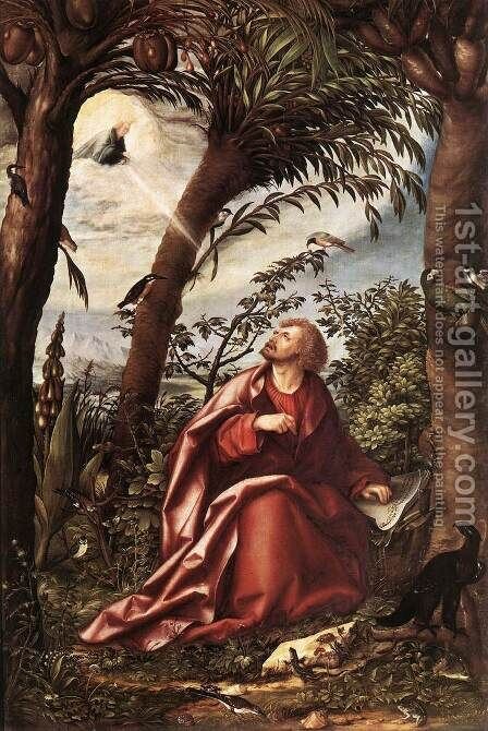 St John the Evangelist in Patmos 1508 by Hans, the elder Burgkmair - Reproduction Oil Painting