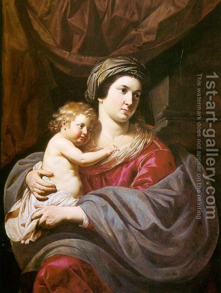 Madonna & Child 1635 by Jan Hermansz. van Biljert - Reproduction Oil Painting