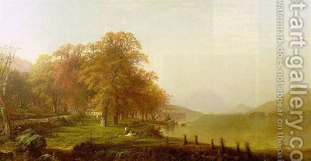 Lake George 1868 by Alfred Thompson Bricher - Reproduction Oil Painting