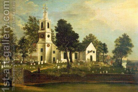 St. John's Church 1836 by J.C. Bridgewood - Reproduction Oil Painting