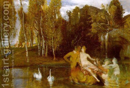 Elysian Fields 1877 by Arnold Böcklin - Reproduction Oil Painting