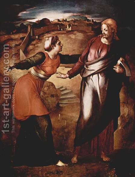Noli me Tangere by Agnolo Bronzino - Reproduction Oil Painting