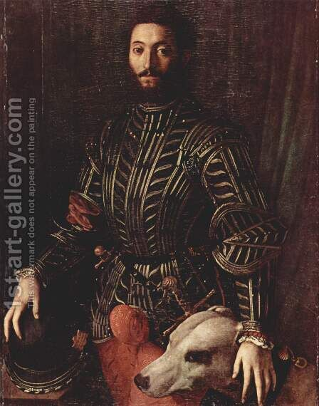 Portrait of Guidobaldo della Rovere by Agnolo Bronzino - Reproduction Oil Painting