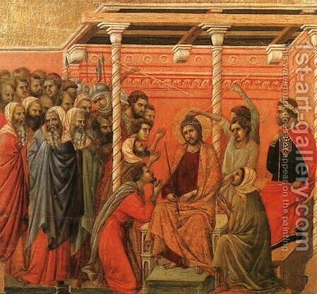 Crown of Thorns 1308-11 by Duccio Di Buoninsegna - Reproduction Oil Painting