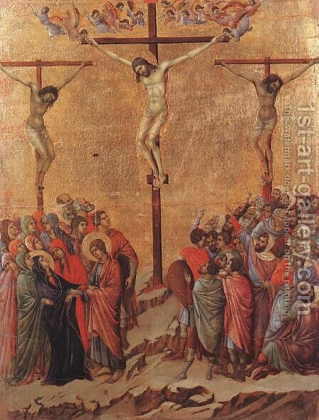 Crucifixion 1308-11 by Duccio Di Buoninsegna - Reproduction Oil Painting