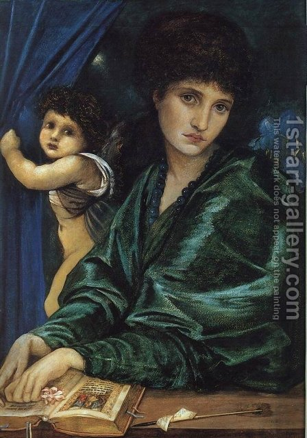 Portrait of Maria Zambaco 1870 by Sir Edward Coley Burne-Jones - Reproduction Oil Painting