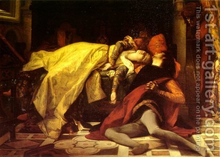 The Death of Francesca da Rimini and Paolo Malatesta 1870 by Alexandre Cabanel - Reproduction Oil Painting