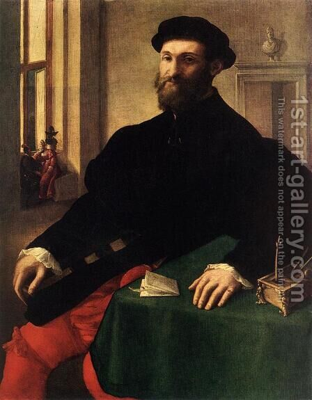 Portrait of a Man by Giulio Campi - Reproduction Oil Painting