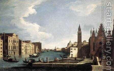The Grand Canal with the Church of La Carità 1734-37 by Bernardo Canal - Reproduction Oil Painting
