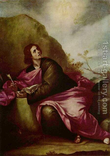 St John the Evangelist on Pathmos 1646-50 by Alonso Cano - Reproduction Oil Painting