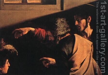 The Calling of Saint Matthew (detail 6) 1599-1600 by Caravaggio - Reproduction Oil Painting
