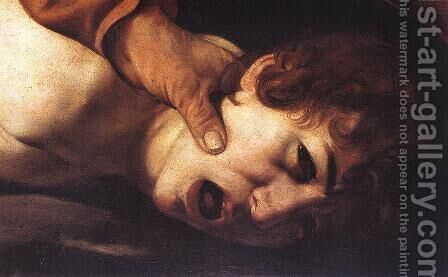 The Sacrifice of Isaac (detail 2) 1601-02 by Caravaggio - Reproduction Oil Painting