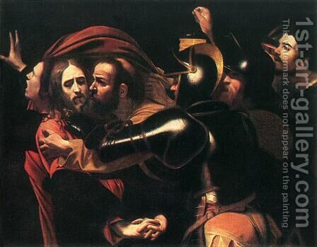 The Taking of Christ c. 1598 by Caravaggio - Reproduction Oil Painting
