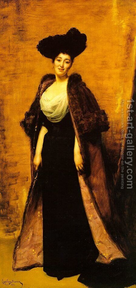 Margaret Anderson, Wife of the Honorable Ronald Grenville 1891 by Carolus (Charles Auguste Emile) Duran - Reproduction Oil Painting