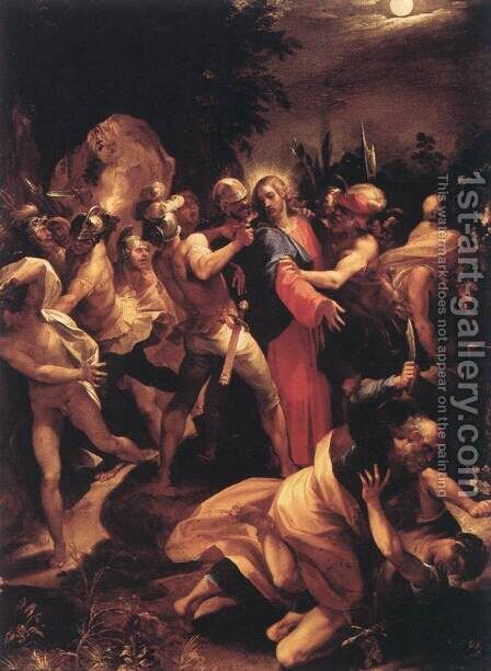 The Betrayal of Christ 1596-97 by Giuseppe (d'Arpino) Cesari (Cavaliere) - Reproduction Oil Painting