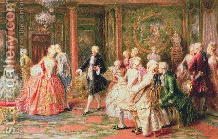 The Waltz by A. Zoffoli - Reproduction Oil Painting