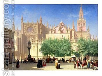 The Cathedral of Seville by Achille Zo - Reproduction Oil Painting
