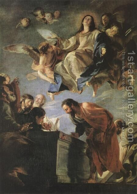 The Mystic Marriage of St Catherine 1660 by Mateo the Younger Cerezo - Reproduction Oil Painting