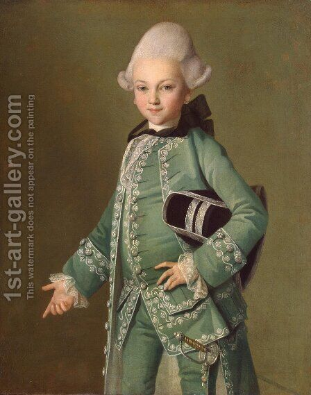 Portrait of Aleksei Bobrinsky as a Child, 1769 by Carl-Ludwig Christinek - Reproduction Oil Painting