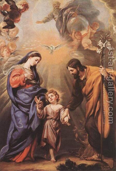 Holy Family by Claudio Coello - Reproduction Oil Painting