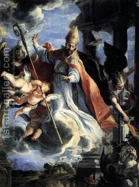 The Triumph of St Augustine 1664 by Claudio Coello - Reproduction Oil Painting