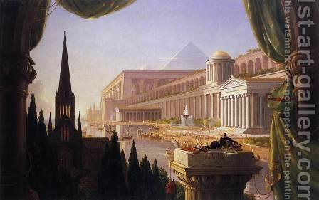 The Architect's Dream 1840 by Thomas Cole - Reproduction Oil Painting