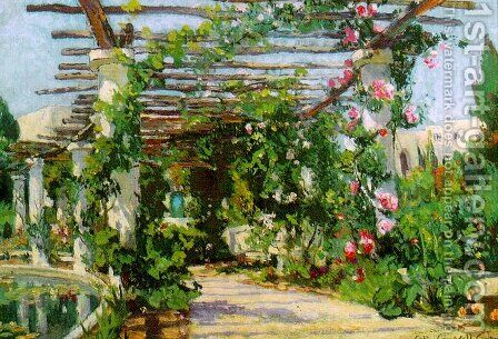 Summer Verandah, 1922 by Colin Campbell Cooper - Reproduction Oil Painting