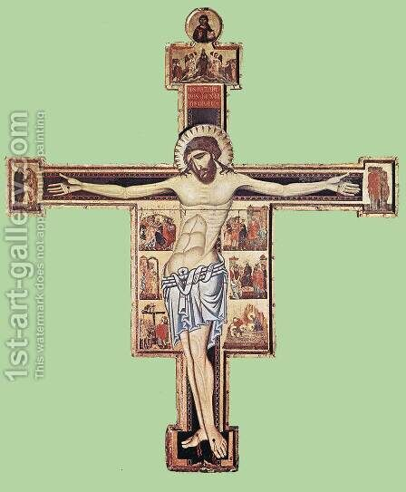 Crucifix after 1261 by Coppo Di Marcovaldo - Reproduction Oil Painting