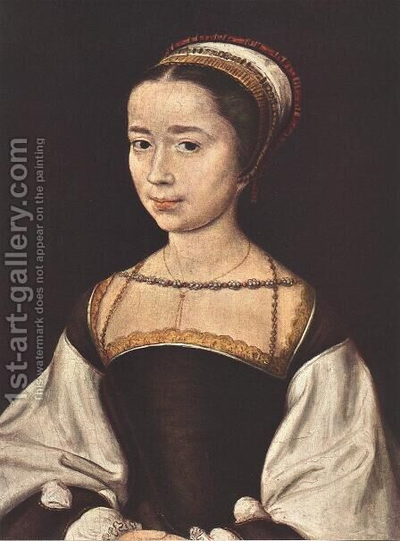 Portrait of a Woman 1530-40 by Corneille De Lyon - Reproduction Oil Painting