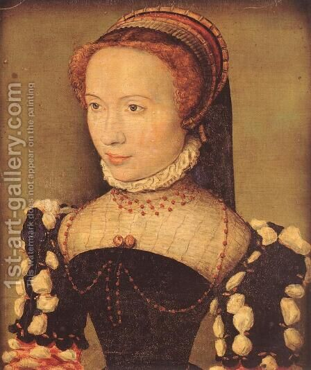 Portrait of Gabrielle de Rochechouart c. 1574 by Corneille De Lyon - Reproduction Oil Painting