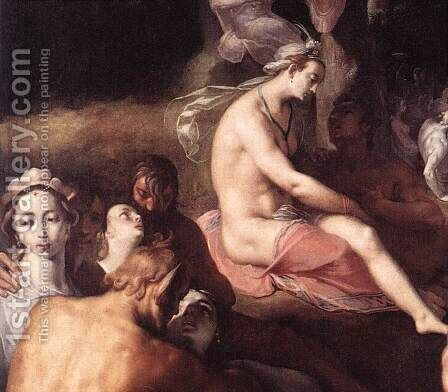 The Wedding of Peleus and Thetis (detail 1) 1593 by Cornelis Cornelisz Van Haarlem - Reproduction Oil Painting