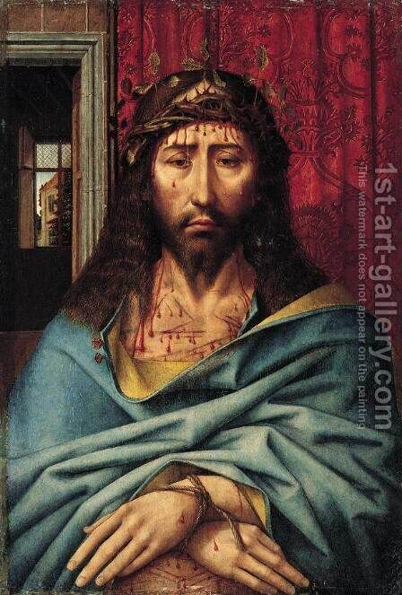 Christ as the Man of Sorrows c. 1500 by Colijn de Coter - Reproduction Oil Painting