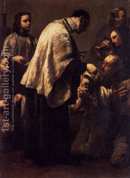 Communion 1712 by Giuseppe Maria Crespi - Reproduction Oil Painting