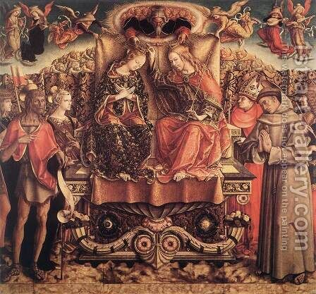 Coronation of the Virgin 1493 by Carlo Crivelli - Reproduction Oil Painting