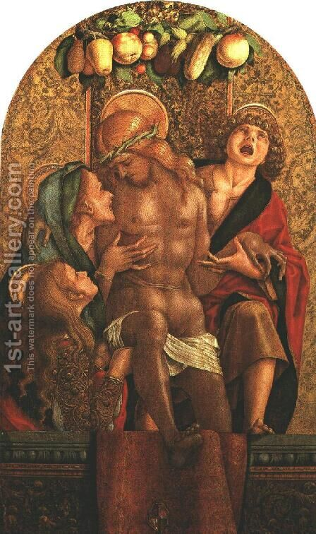 Lamentation over the Dead Christ 1485 by Carlo Crivelli - Reproduction Oil Painting