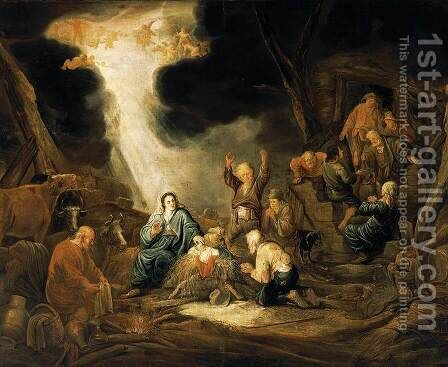 Adoration of the Shepherds by Benjamin Gerritsz. Cuyp - Reproduction Oil Painting