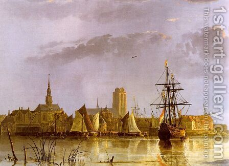 View of Dordrecht, 1650s by Aelbert Cuyp - Reproduction Oil Painting