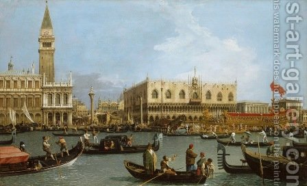 The Basin of San Marco on Ascension Day 1732 by (Giovanni Antonio Canal) Canaletto - Reproduction Oil Painting